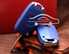 Blank FOB Car Key Case  For Fiat Siena Palio Modified Flip Remote Key Shell Side 1 Button