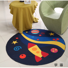 Cartoon Plane Round Mat 60/80/100/120/160CM alfombras dormitorio Carpet Living Room Deurmat rugs Swivel chair Mats tapis chambre