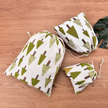 Rawstring Packaging Christmas Treebags Jewelry Pouches Christmas Valentines Gift Bags(China)