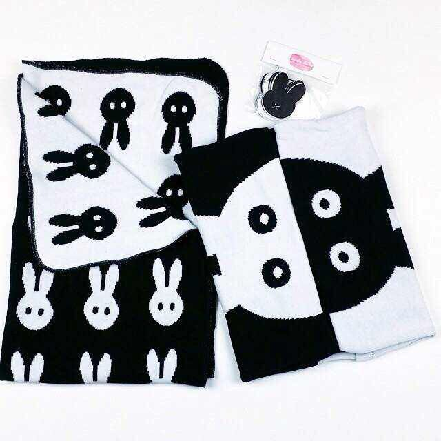 Cute Rabbit Black and White Reversible Baby Swaddle Blanket Wrap<br><br>Aliexpress