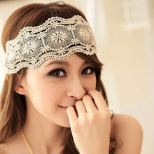 Hot Sale Fashion DAYS Store Elegant Womens Girls Lace Headband Hairband Retro Hair Band Wide Headwraps Hair Accessories 2017 New