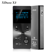 Hot XDUOO X3 Professional Lossless Music MP3 HIFI Music Player With HD OLED Screen Free With X3 Leather Case Free Shipping