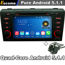 For Mazda 3 mazda3 2004-2009 Car Multimedia DVD Player Pure Android 5.1 Quad Core 1.6GHz 3G WIFI Radio GPS Rear View Camera