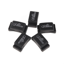 5pcs Black Rubber Guitar Pick Holder Fix on Headstock for Guitar Bass Ukulele Free Shipping - Alice(China)