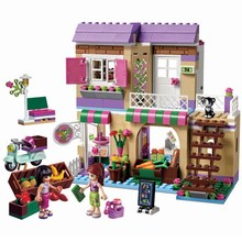 Heartlake Food Market 389 Pcs Mini Bricks Set Sale Building Blocks Friends Series Toys For Children Compatible with Lepin 41108(China)