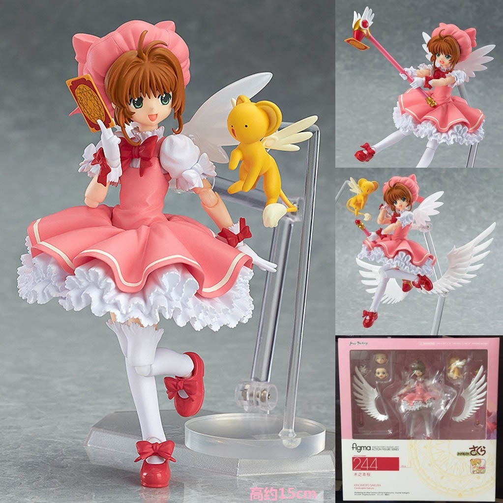 Anime Cardcaptor Sakura Figma 244 Kinomoto Sakura PVC Action Figure Collectible Model Toy 14cm CSFG002<br><br>Aliexpress