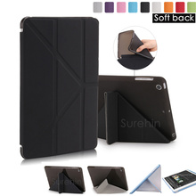 Nice soft tpu silicone back cover magnetic leather smart case for apple iPad air 1 2 Pro 9.7 mini 1 2 3 4 cover case slim thin