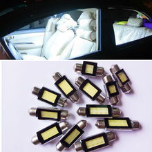 10 Pcs 31mm 36mm 39mm 42mm COB LED White Dome Festoon CANBUS Error Free Interior Car Auto Reading Light Parking Lamp Bulb 12V
