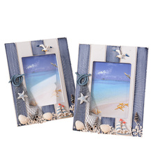Creative Wooden Wood Mediterranean Seagull Shel Photo Fresh Home For Gift Decor Photograph Frame Picture Mini Photo Frames