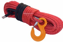 Free Shipping Red 12mm*30m ATV Winch Cable,UHMWPE Rope,Tow Rope Car,Plasma Winch Cable(China)