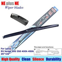 "Car windscreen Wiper blades for Lexus RX Series 300 350 400h 450h 26""+22"" Fit standard J hook type windshield wiper only LT170(China)"