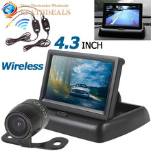 4.3 Inch HD 480 x 272 Car Rear View Parking Monitor+ CMOS Auto Backup Reverse Rearview Camera + Video Transmitter Receiver Kit