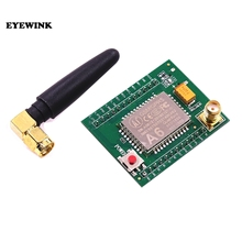 5 Pcs/Lot ESP8266 Smart Electronics Gsm a6 GPRS Module GSM Module A6 \ SMS \ Speech \ Board \ Wireless Data Trans Adapter Plate(China)