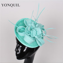 Multiple colors with feather adorn fascinator hat for women wedding Cocktail handmade headress fashion hair  headpiece supplies