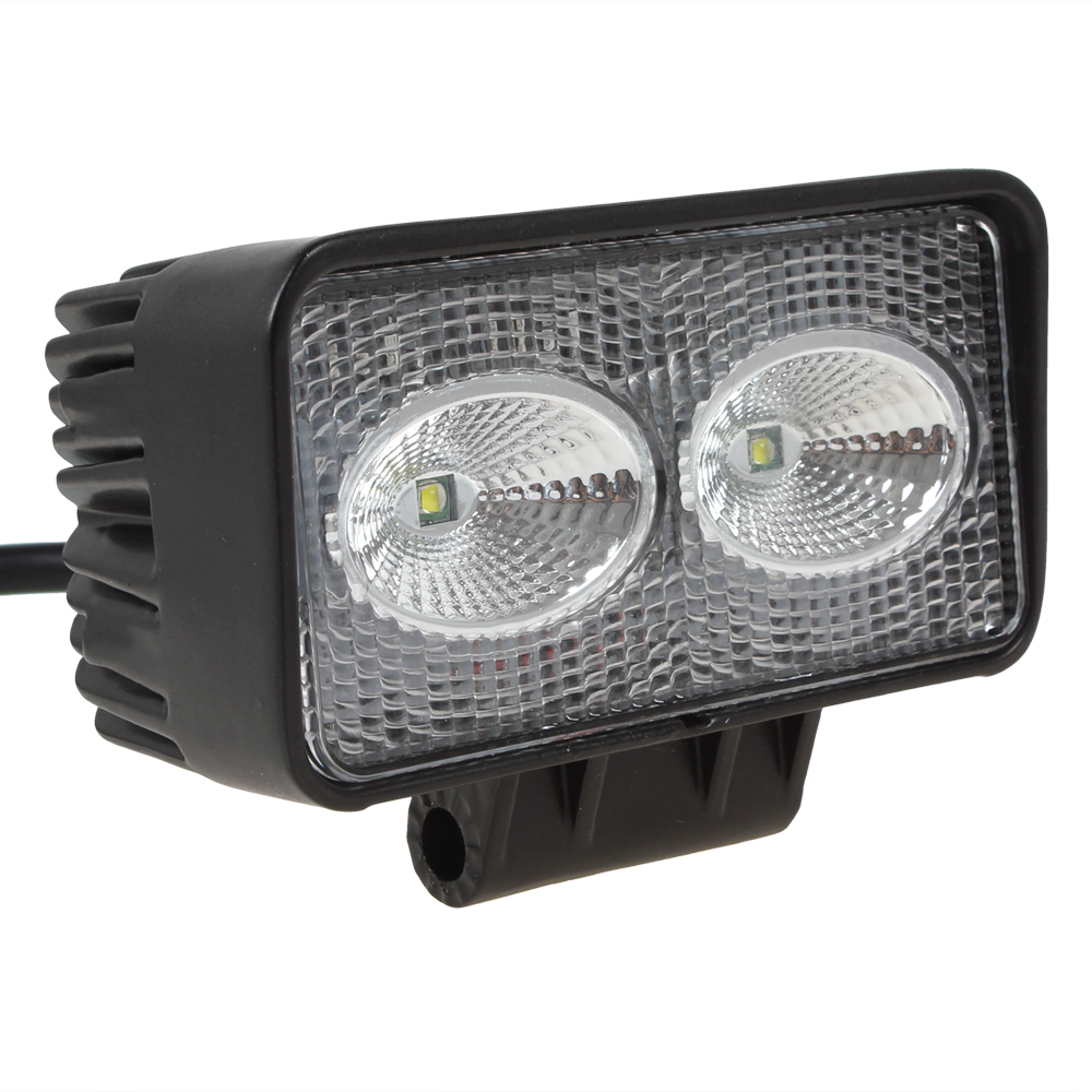 20W High-Power 1720LM 2 x 10W Bead LEDs Lights Lighting Rectangle Offroad LED Work Light<br><br>Aliexpress
