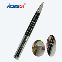 ACME Cool checker Design Metal Ball Pens for Business Gifts Fashion Retail Shop Stationery Silver and black Square Ballpoint Pen