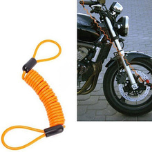 Motorcycle Scooter Bike Disc Lock Dual Loop Alarm Security Spring Reminder Cable