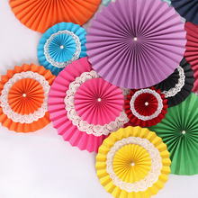 8 inches Honeycomb Tissue Paper Fan Pinwheels Wedding Decoration Multi Color DIY Handmade Flower Ball Foldable 100pcs SK543