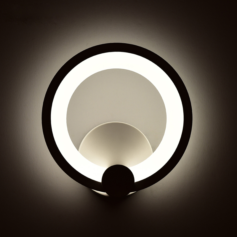2017 new Modern LED Wall Lamp with 12W 16W Wall White Indoor Lighting AC100-265V  around acrylic body Art <br><br>Aliexpress