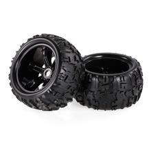 2pcs 3.6 Inch 150mm Rubber RC Tires 1/8 RC Car Wheel Rim & Tire Wheel for 1:8 Traxxas HSP HPI E-MAXX Savage Flux ZD Racing Car(China)