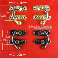 Leather craft tools Jewelry boxes latches Box lock clasp Retro Hasp lock Latch for case Antique Metal 100pcs/lot Free shipping