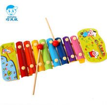 Wooden cartoon Preschool children's music toys  Wooden hand knock piano Toy Musical Instrument educational toys