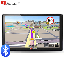 Junsun 7 inch HD Car GPS Navigation FM Bluetooth AVIN Map Free Upgrade Navitel Europe Sat nav Truck gps navigators automobile(China)