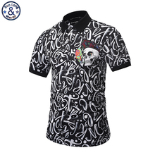 Mr.BaoLong 2017 new Brand design Polo Shirt Men Fashion style POP printed letter skull slim fit Polo shirt M-3XL PT1
