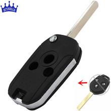 3 Buttons Replacement Shell Modified Folding Remote Key Case Fob For Subaru Flat Blade(China)