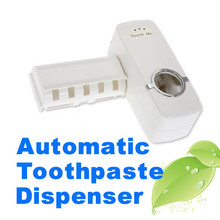 New Automatic Toothpaste Dispenser with Brush Holder Home Bathroom Products Hands Free Squeeze out