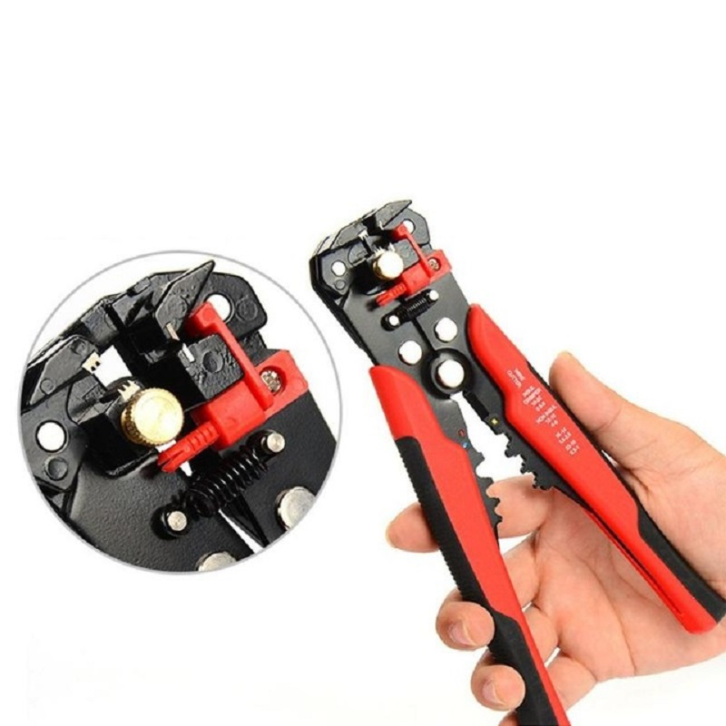 3 In 1 Multi Tool Automatic Adjustable Crimping Tool Cable Wire Stripper Cutter Peeling Pliers D1 Blue Repair Diagnostic-tool Pliers