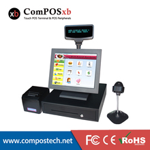 15 inch POS system PC All in one POS machine terminal touch screen cash register For Supermarket Receipt POS2116