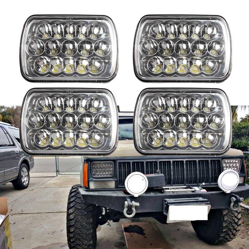 4Pcs 7x6 LED Sealed Beam 6054 H6054 5x7 Headlight For Jeep Cherokee XJ Ford Van<br><br>Aliexpress