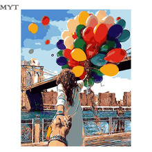 A lot of Fly balloons In Air Cheap Painting By Number High Quality Oil Painting On Canvas Acrylic Paint Fashion Pictures DIY458
