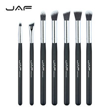 Retail JAF Brand 7 pcs/set Professional Portable Makeup Brushes of Eye Blending Eyeshadow Smudge Shading Brushes JE07SSY-B(China)