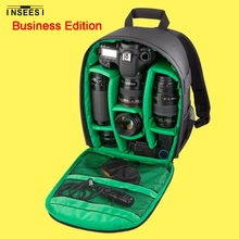 Double Shoulder Backpack Waterproof Small Compact Multi-Functional Video Photo Bag Red Green Camera DSLR Bag For Digital Camera