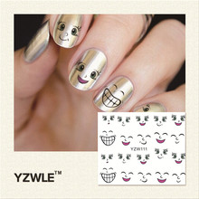 YZWLE 1 Piece Hot Sale Water Transfer Nails Art Sticker Manicure Decor Tool Cover Nail Wrap Decal (YZW111)
