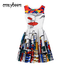Amuybeen Girls Clothing Floral Casual Dress for Girls 5 8 10 11 12 Years Princess Kids Clothes Summer Children's Party Dresses