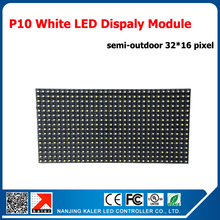 TEEHO White P10 LED module 320mm x 160mm, 32*16 pixle, programmable scrolling message led display board semi-outdoor