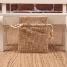 small Plain linen jute Burlap Drawstring Bags soap rings Earrings Brooch jewelry Wedding Favor gift package pouches 7*9cm 50pcs