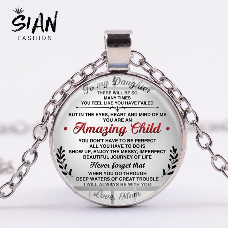 you're still my little boy silver quote pendant necklace from mom To my son