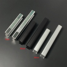 24PCS/LOT Aluminum Kitchen Cupboard Furniture Cabinet Handle Pull Black Silver Dual-color New design
