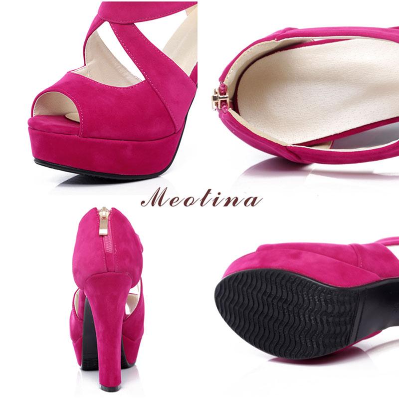 New Women's Platform Sandals, Shoes Cross Strap, High Heel Sandals 13