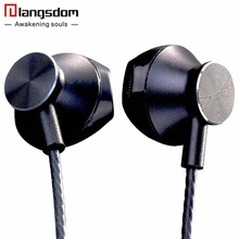 Newest Langsdom R9C In-Ear Line Control Earphone Super Bass Earphones with Microphone Headset for Phone Computer Original Brand