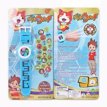 24 Projectors hello kitty Spiderman Yokai watch Wrist Watch action figures Yo-Kai Watch 3D projection watch toy for children