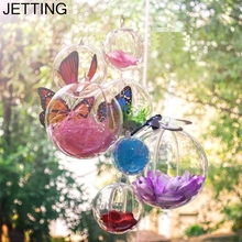 JETTING Wholesale 10PCS 4CM Christmas Tree Decor Ornament Ball Type Box Transparent Plastic Craft Christmas Gift Boxes ball