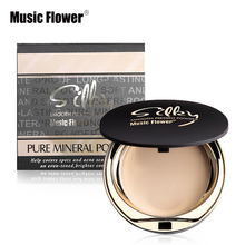 Music Flower New Fabulous Smooth Pressed Powder Face Makeup Maquiagem Batom Cosmetics Makeup Natural Mineral Palette Skin Finish(China)