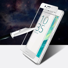 9H Colorful Full Cover Tempered Glass For Sony Xperia X XP XC XZ XZS XA XA1 Ultra Screen Protector Protective Film Case Cover