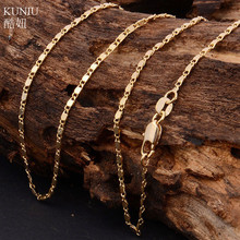 KUNIU Elegant Women Jewelry Gold Filled Necklace Jewelry Chain Delicate