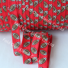 American Football Printed Ribbon Elastic, Super Quality Fold Over Elastic FOE, China Supplier Welcome Wholesale Customized(China)